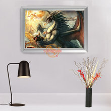 Hot Sale Custom Aluminum Alloy Painting Frame Home Decor dungeons dragons Canvas Fabric Print Poster Frame H00217-46(China)