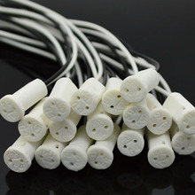 20PCS/LOT G4 Base g4 Socket plug special ceramic g4 Holder Head Wire Connector G4 ceramics Lampholders base(China)