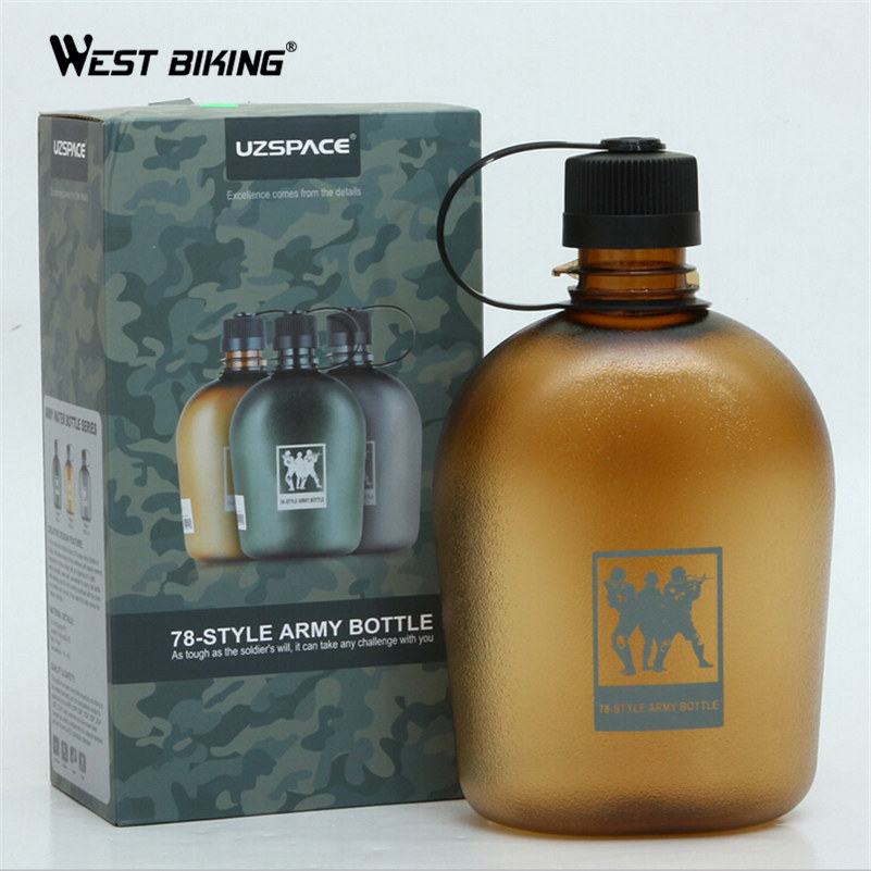 WEST BIKING 750/1000ml Cycling Water Jug Sports Water Bottles TRITAN Portable Skidproof Drink Jug Agua Bicicleta Bicycle Bottle