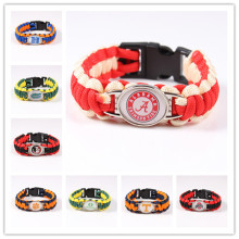 2017 Drop Shipping NCAA Football Team Mens Paracord Survival Bracelet Friendship Outdoor Camping Wristband Bracelet