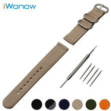 Nylon Watch Band 18mm 20mm 22mm 24mm for Citizen Stainless Steel Pin Buckle Strap Wrist Belt Bracelet Black Blue Green + Tool