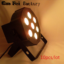 10PCS/CARTON 7*12W RGBW 4IN1 Outdoor Led Par Cans Light  Led 7x12 DMX Led Par Stage Lighting Effect