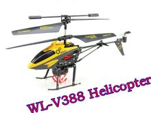 WL V388 3.5ch 3D IR Radio Control RC Helicopter with built-in Metal Gyro,Carrier Lifting Hook Something / Best Gift For Child