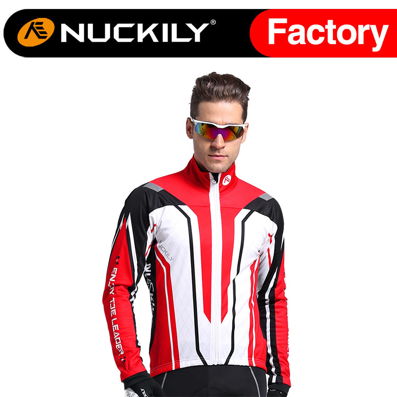 NUCKILY mens light weight waterproof and windproof thermal cycling jacket with full length durable zipper and rear pockets<br><br>Aliexpress
