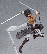 "Anime Attack on Titan Figma 203 Mikasa Ackerman 6"" PVC Action Figure Collectible Model Toy With Box(China)"
