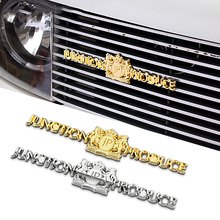JP Junction Produce Letters Long Gold Silver Chrome Metal Car Styling Grille Fender Emblem Badge 3D Sticker VIP Car Luxury Logo