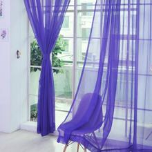 NEW Stylish Modern Wedding Party Colorful Floral Tulle Voile Romantic Door Window Curtain Sheer Valances Scarf 200cm x 100cm