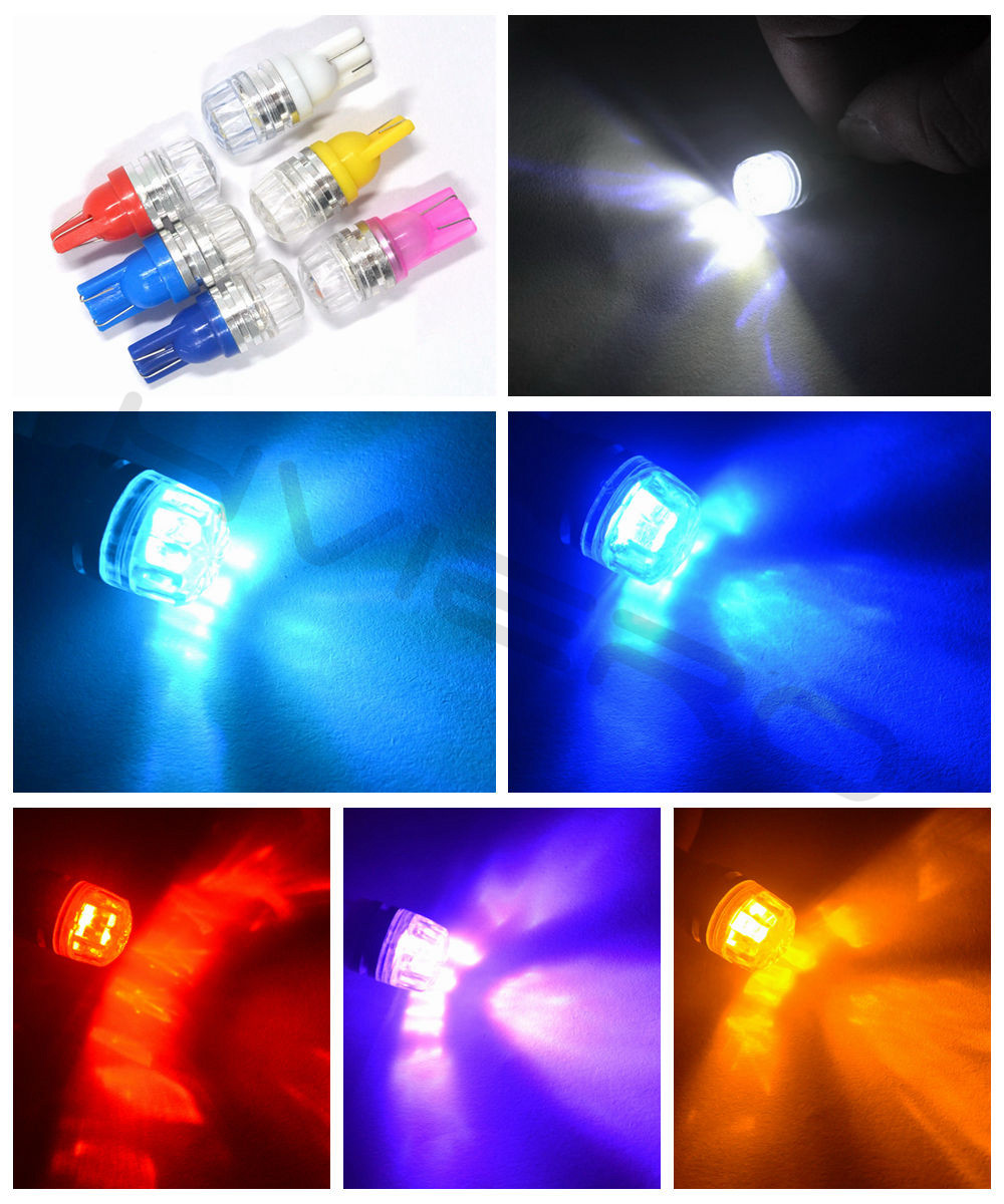 Hviero  Led Car DC 12v Lampada Light T10 5050 Super White 194 168 w5w T10 Led Parking Bulb Auto Wedge Clearance Lamp car styling
