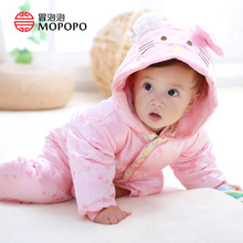 Mopopo Baby Romper 2017 Long Sleeves Baby Girl Clothing Winter Kitty Jumpsuit Chinese Newborn Romper Suits Set For Babies