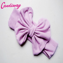 2017Fashion Cotton Turban Kid Headband Knotted Bowknot Headwear Light Purple Butterfly Headbands Girl Hair Bows Hair Accessories(China)