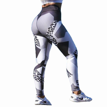 Leopard Print Sporting Leggings Women Fitness High Elastic Skinny Pants Fitness Clothing For Women Push Up Workout Leggings CK31(China)