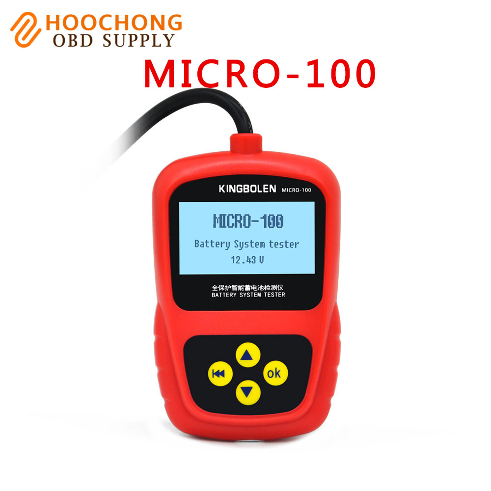 Car Battery System Tester MICRO-100 for 12V Auto battery tester tool 100% original micro 100 free shipping<br>