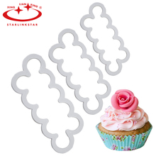 3Pcs/Set 2016 New Rose Flower Cake Mold Cookie Cutter Fondant Cake Decorating Tools Sugarcraft Cutter Cake Baking Tool