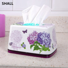 SHALL Europe Small Size Luxury European Melamine Sanitary Products Home Car Tissue Case Box Home Accessories Napkin Paper Holder