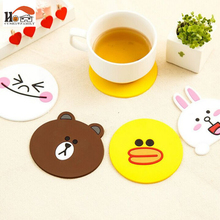 Super Meng creative cartoon animal thickened Durable silicone Heat Resistant coaster bowl pad cup mat cup Mat Kitchen supplies(China)