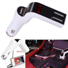 High Quality  car-styling Bluetooth Car Kit Handsfree LCD FM Transmitter Radio Adapter MP3 Player Dual USB Charger