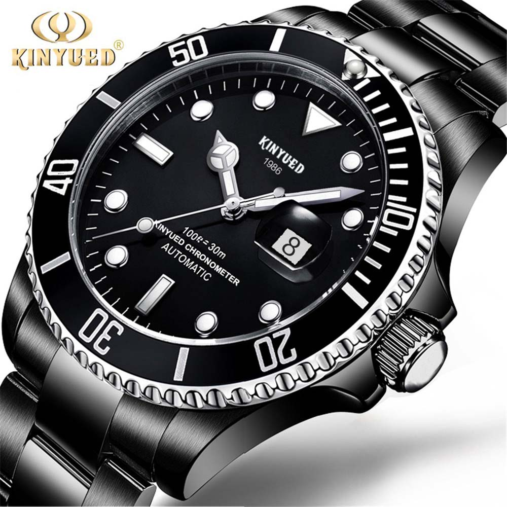 2018 KINYUED Mens High Quality Automatic mechanical Watches Men Top Brand Luxury Business Full Steel Watch Man Relogio Masculino<br>