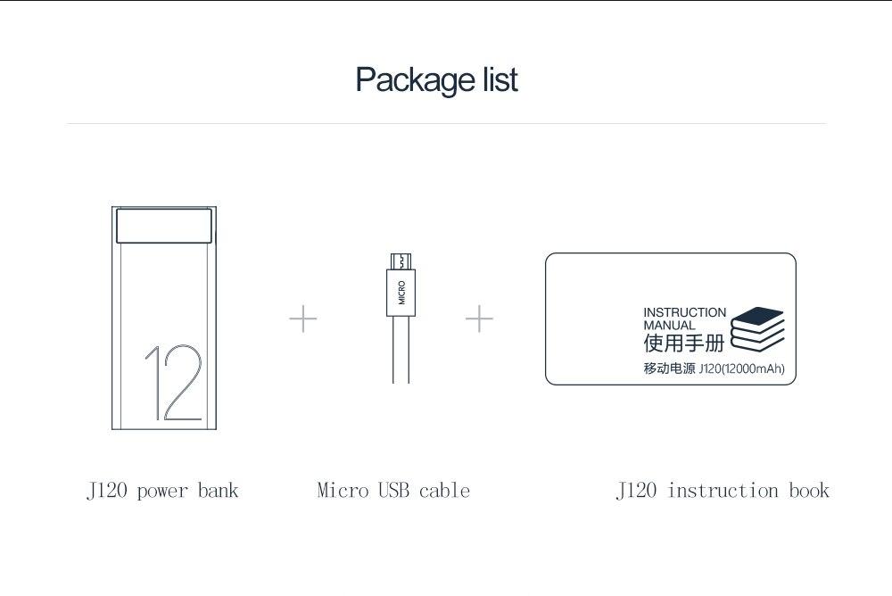 ARUNJ120 Li-polymer Battery PowerBank12000mAh LED Lights External Battery 2 USB LCD Power Bank Portable Charger (11)