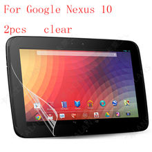Clear Tablet LCD film Screen Protector For Google Nexus 10 Reinforced Protection Ultra thin Film 2pcs in 1 package