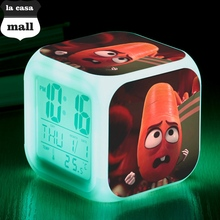 Sausage Party alarm clock Frank / Sergeant Pepper reloj despertador Brenda LED Digital Alarm Clock Carl watch Barry bedroom klok(China)