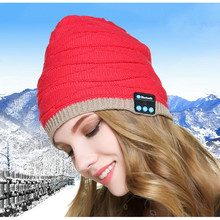 Boys Girls Knitted Wireless Bluetooth Hat Xmas Halloween Gifts Hats Speaker Winter Warm Beanies Bluetooth Smart Caps Headphones
