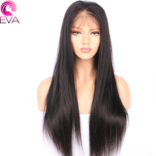 Eva Hair Full Lace Human Hair Wigs Pre Plucked Natural Hairline Straight Brazilian Remy Hair Wigs With Baby Hair(China)