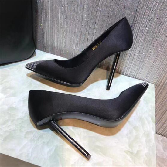 2018 New Style Crystal Covered High Heels Women Pumps Pointed Toe Silk Women Dress Shoes Ladies Wedding Shoes Woman Zapato Mujer (10)