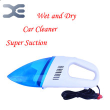 Wet and Dry Vacuum Cleaner Blue Mini Car Vacuum Cleaner 60W The New Wet and Dry Vacuum Cleaner Car Free Shipping
