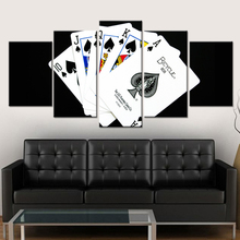 Modern HD Print Painting Modular Pictures 5 Panel Playing Cards Framework Wall Art Poster Modular Home Decor Living Room Canvas(China)