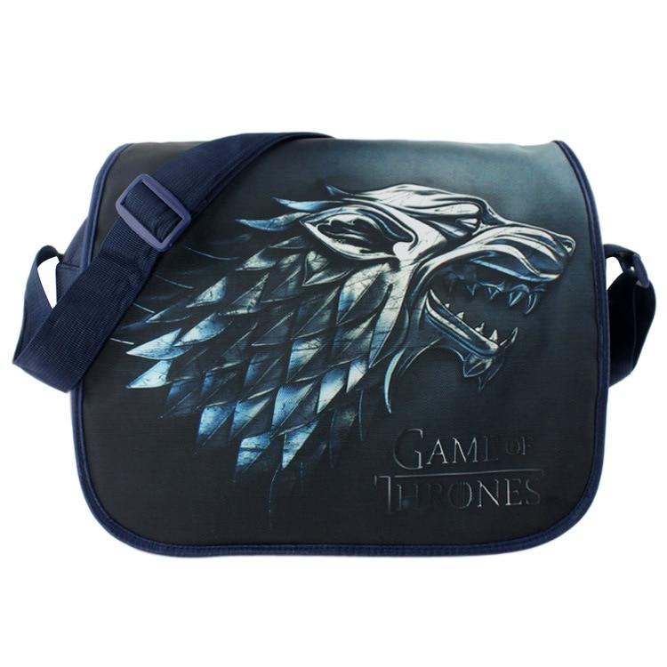 2017 Anime Game of Thrones Messenger Bag Cosplay Shoulder Travel Bag Canvas Handbag School Bags<br><br>Aliexpress