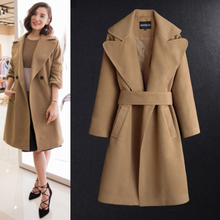 2016 Paris Fashion Autumn Winter Women Woolen Coat Classic Lapel Women Long Wool Coats Handmade Double Sided Cashmere camel 3638