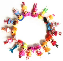 8pcs/lot  New 8cm MGA mini Lalaloopsy Doll the bulk button eyes toys for girl classic toys Brinquedos