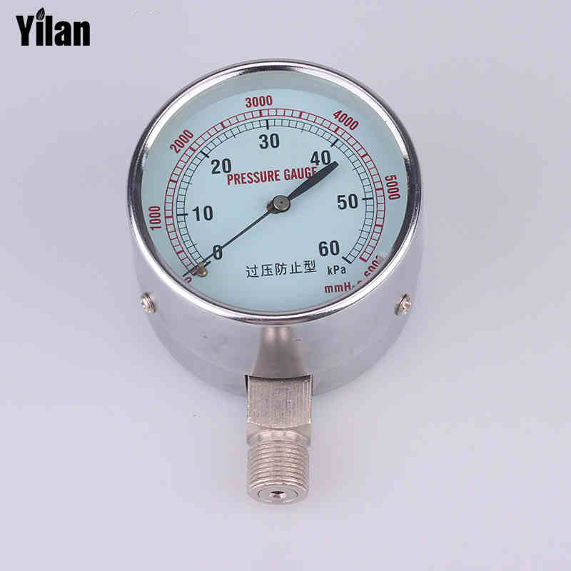 YE-60  0-60kpa Iron shell box pressure gauge gas micro-pressure table 1000 Pa table multi-range complete specifications <br>