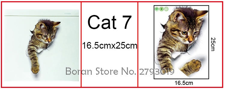 Cats 3D Wall Sticker Toilet Stickers Hole View Vivid Dogs Bathroom Cats 3D Wall Sticker Toilet Stickers Hole View Vivid Dogs Bathroom HTB1T61mSpXXXXbQXXXXq6xXFXXXY
