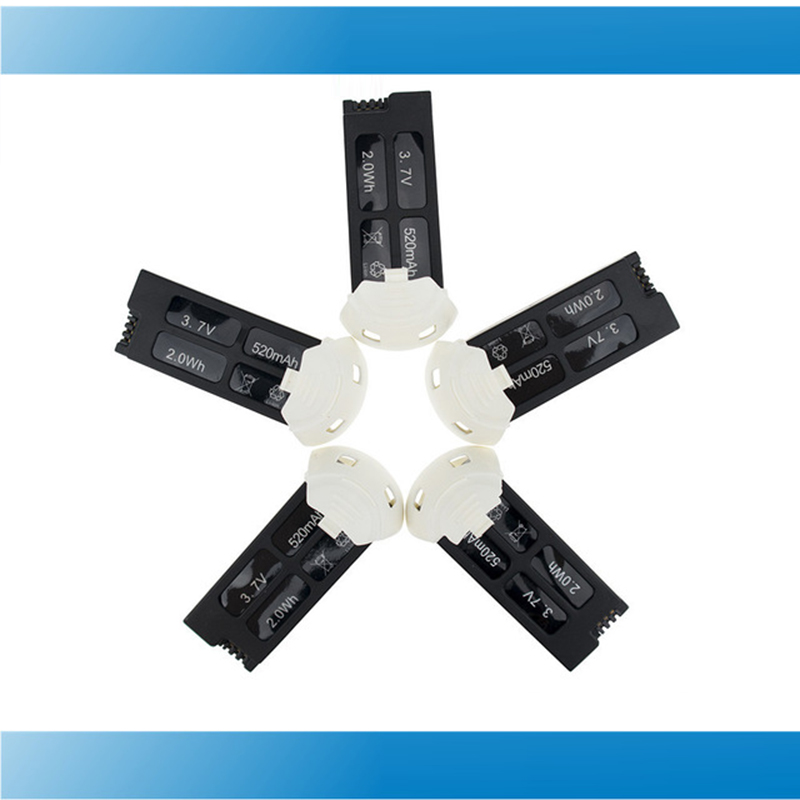 Hubsan battery 3.7V 520mAh LIPO battery 5pcs for Hubsan X4 Camera H107D plus H107D+ 6-axis Gyro RC Quadcopter RTF 2.4GHz parts<br>