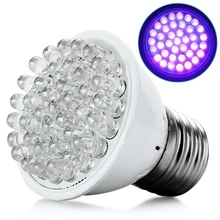 LED Lamp Ultra Bright E27 UV Ultraviolet Color Purple Light 38 LED Lamp Bulb 110/220V High Quality