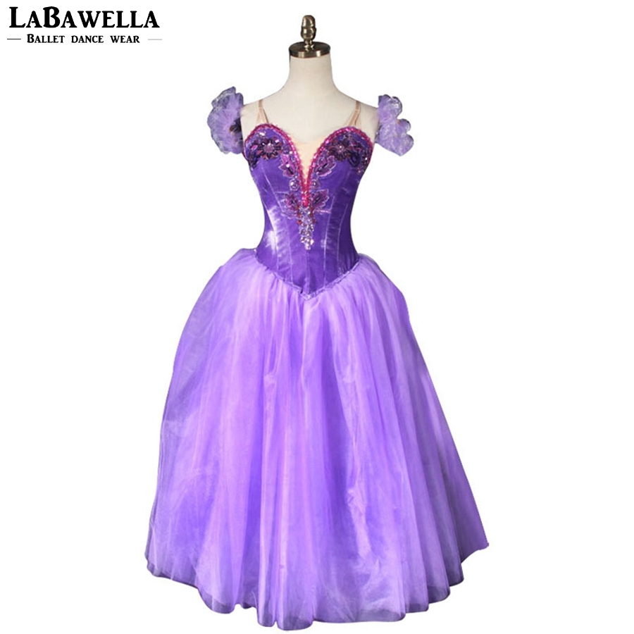 Girls Professional Tutu Ballet Dance Tutus BT9088B Purple Romantic Ballet Tutu long Dress Ballet Ballerina Tutu Dress