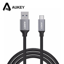 AUKEY USB Type C Cable (Aluminum+Braided) Type-C Fast Charge Data Cable Samsung Oneplus 5 Huawei P10 Nintendo Switch USB-C