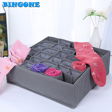1pcs 30slots Folding Storage Box Bin Container Lingerie Underwear Necktie Tie Sock Home Drawer Divider Organizer Absorbs case