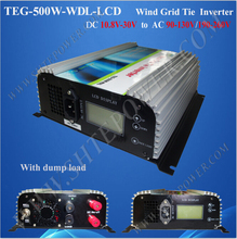 Safe and reliable 10.8-30v dc to ac inverter for wind 120v for home wind power system 500w