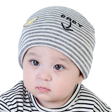 Cotton Crochet Baby Hat Chicken Pattern Newbron Beanie Knit Infant Striped Hat For Boys Girls New Fashion Autumn Beanie Hat(China)