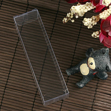 "Retail 50Pcs/Lot 2.3*2.3*9.5cm 0.91""x0.91""x3.74"" Cosmetics Poly Box Clear PVC Package Box For Weeding Gift Craft DIY Flower Tree"