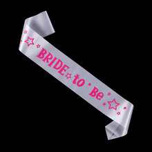 Wedding event sash 60% off for 3pcs Bride to be ribbon hens night bridesmaid team bride  supplies bachelorette hen party favor
