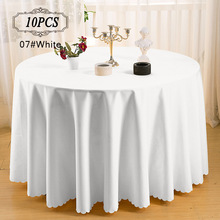 "2017 New 10P Premier Quality Machine Washable 100% Polyester Table Linen Wedding Party Hotel Table Cover 120"" Round Table Cloth(China)"