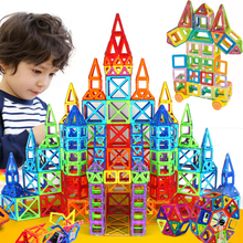 Mini 166pcs Magnetic Designer Construction Set Model & Building Toy Plastic Educational Magnetic Blocks Toys For Kids