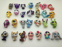 10pcs/1lot Littlest Pet Shop LPS Cartoon Dog 3cm Action Figures Kid Brinquedo Toys Birthday Gift Free Shipping