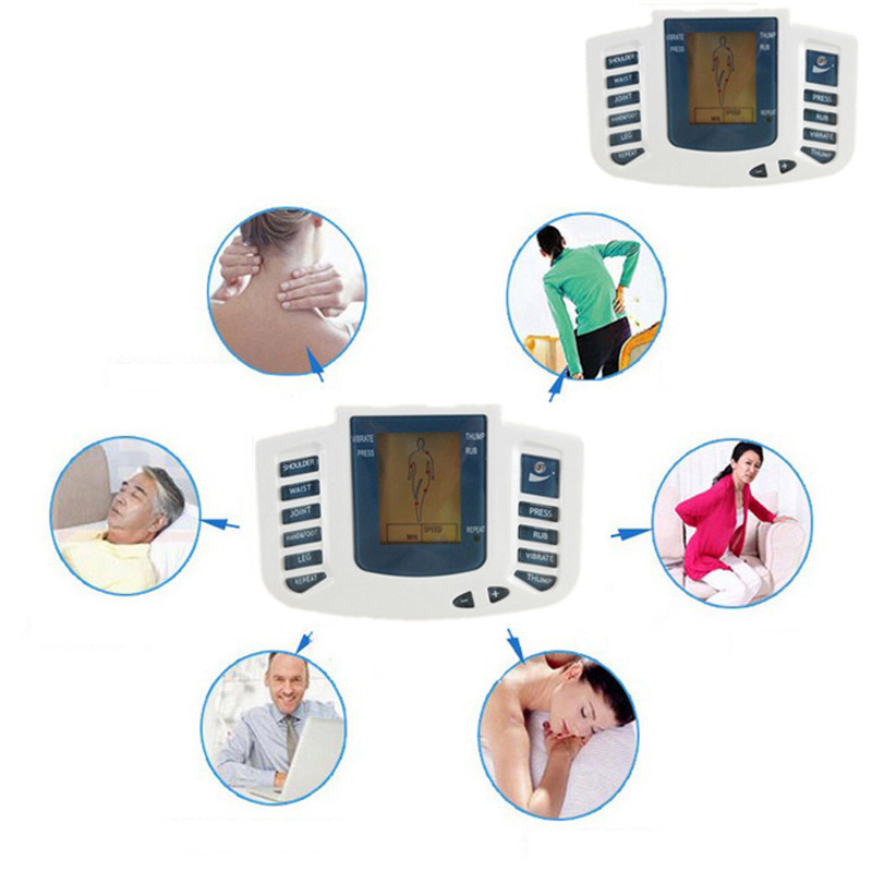 Hot Electrical Stimulator JR-309  Full Body Relax Muscle Massager,Pulse Tens Acupuncture with Therapy Slipper+ 4pads Health Care