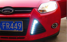 wholesale car-styling For Ford Focus 3 2012 2013 2014 LED DRL Daytime Running Lights Daylight Waterproof Fog Head white Lamp