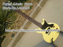 New Arrival 2015 Junior Single Cut L-P Model Electric Guitar With One P-90 Style Pickup In Milk Yellow(China)