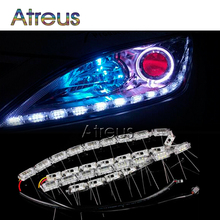 2X Car LED Strip Lamp Kit DRL lights 12V For BMW E46 E39 E60 E90 Lexus RX NX GS For Infiniti q50 FX35 with video Car accessories(China)